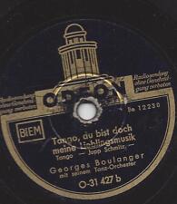 Georges Boulanger Tanzorchester spielt seltene Tangos 30er Jahre