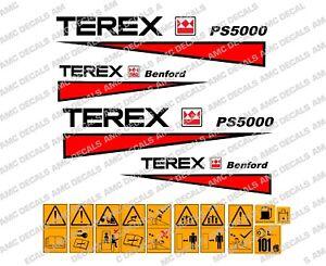 Terex-benford-PS5000-Calcomanias-de-dumper