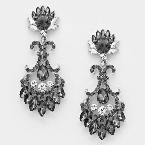 LUSH Celeb Statement Black Diamond Crystal Cocktail Necklace By Rocks Boutique