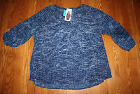 Womens Hilary Radley 3/4 Sleeve Printed Blue Combo Blouse Sz S Small