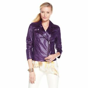 09d793733cc Image is loading G-by-Giuliana-Rancic-Faux-Suede-Rider-Jacket-