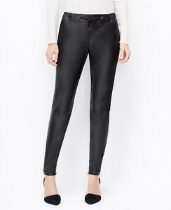 release info on recognized brands footwear Details about Ann Taylor – Petites Black Faux Leather Drawstring Pants  $109.00 (D35)
