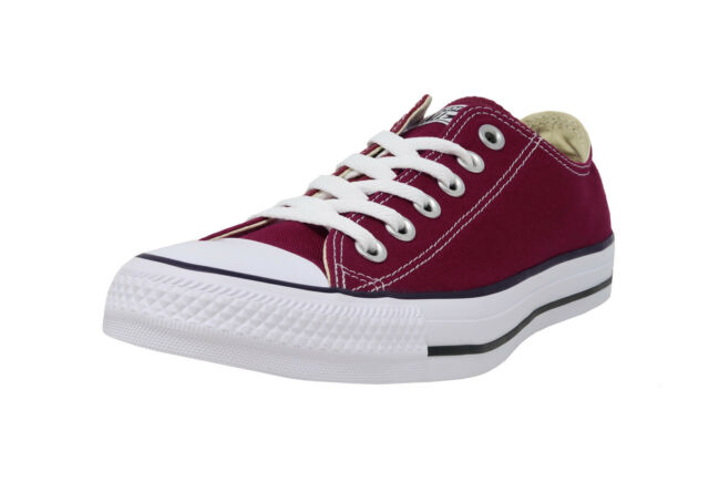 Converse Shoes Chuck Taylor All Star Ox Mens Womens Low Top Maroon Sneakers