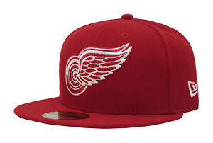 New Era 59Fifty NHL Hockey Cap Detroit Red Wings Mens Red Fitted ... 89e025ec8be