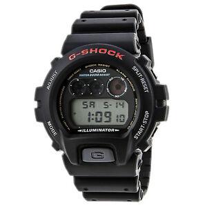 Casio-Men-039-s-Watch-G-Shock-Classic-Black-and-Grey-Digital-Dial-Strap-DW6900-1V