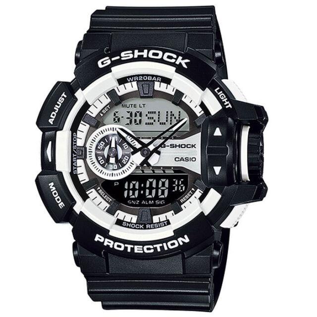 Casio G-Shock Mens Wrist Watch GA400-1A GA-400-1A Analog-Digital Black White