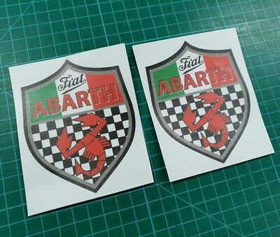 595 695 Abarth competizione wing Decals Fiat 500 Stickers 100mm tall