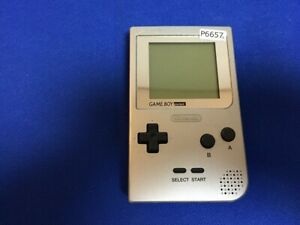 P6657-Nintendo-Gameboy-pocket-console-Silver-GBP-Japan-Junk-For-parts-DHL