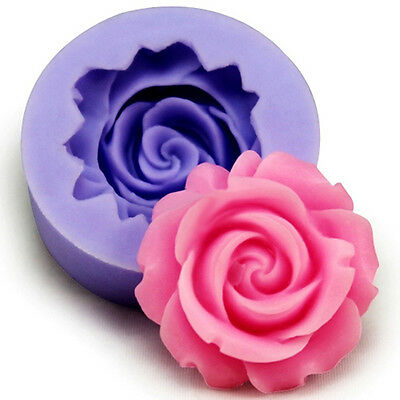 2 pc Rose Flower Fondant Cake Chocolate Sugarcraft Mold&Cutter Silicone Tool DIY