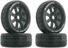 Duratrax DTXC3655 Bandito C2 Mounted Tires / 8-Spoke Black Wheels (4) 1/8 Buggy