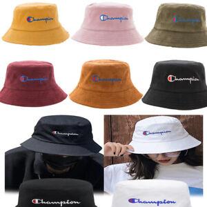 Fashion-Women-Men-Bucket-Hat-Fisherman-Cap-Letter-Print-Unisex-Solid-Bucket-Hat