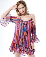 Boho Womens Ladies Summer Beach Shift Dress Cocktail Dress Top Clothes Plus Size