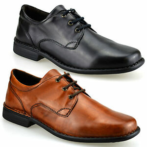 mens airsoft smart casual round toe formal lace up work