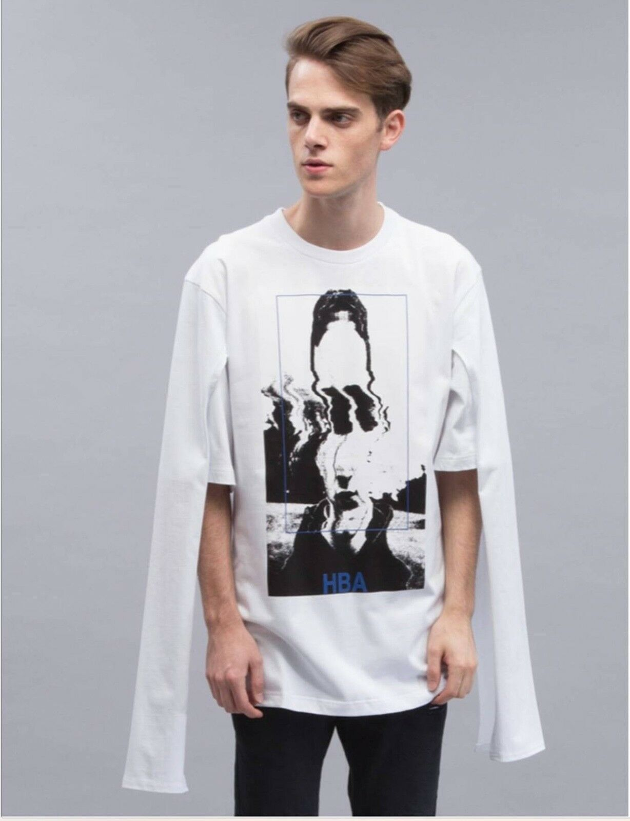 HOOD BY AIR White Montgomery Graduation T-Shirt Size XS