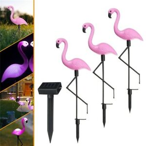 Image Is Loading Solar Flamingo Garden Light Led Path Landscape Night