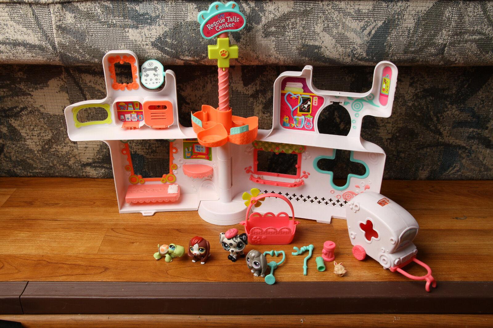 Littlest Pet Shop Rescue Tails Center Playset w    Ambulance & Figures Hasbro 2009 45913b