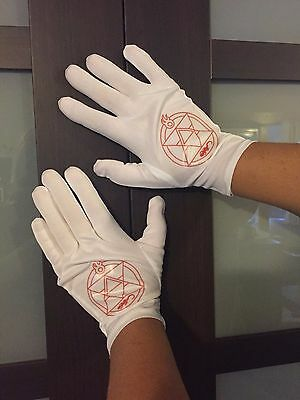 Roy Mustang Gloves for your Fullmetal Alchemist Cosplay Costume accessory