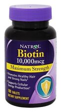 Natrol Biotin 10,000 mcg Maximum Strength Tablets (ready stock - same day ship)