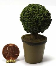 Dollhouse Miniature Yellow Rose Topiary in Decorative Pot ~ A2463YW