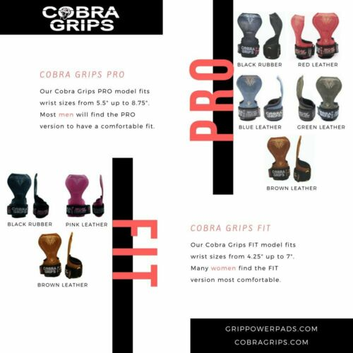 Cobra Grips FIT Gym Body Building Hooks Gloves Sports Weight Lifting Grips