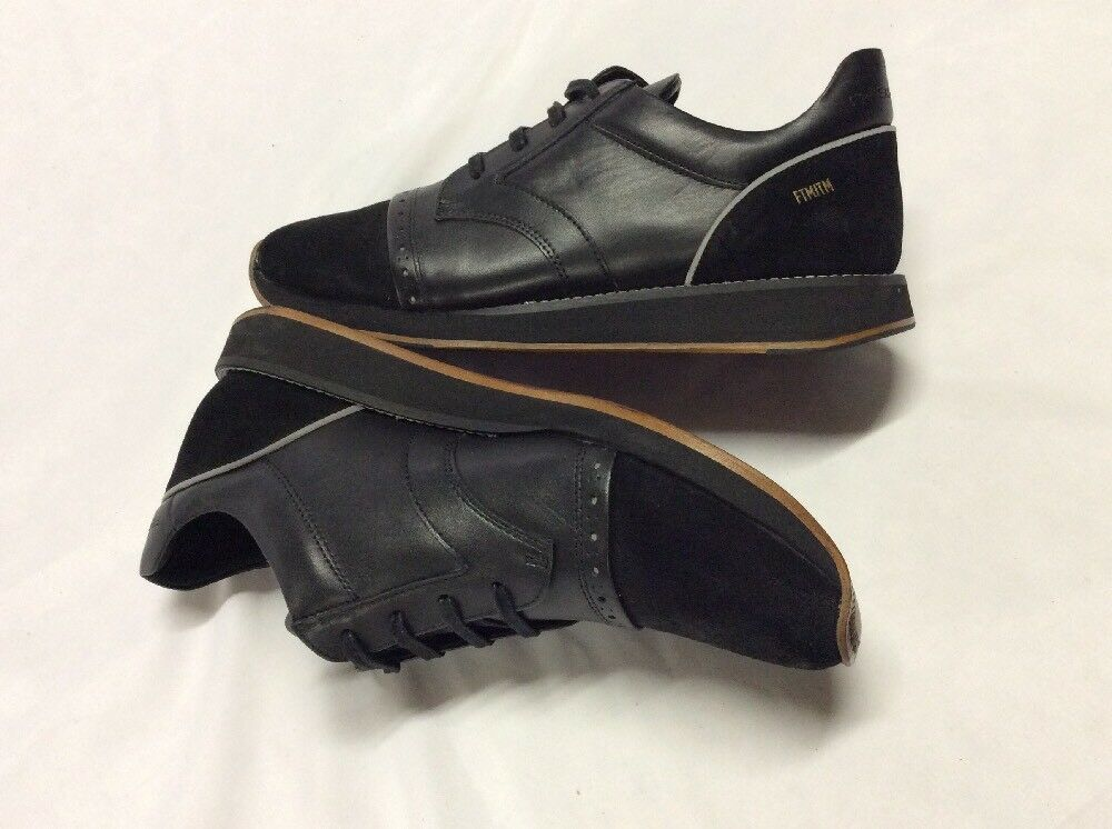 new product 87a06 4698c ... Freeman Plat EASY JOGGER JOGGER JOGGER BLACK Men s Leather Boot SNEAKERS  Size 10 2318d5 ...