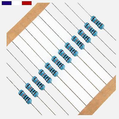 50 ou 100pcs Lot de 20 2,4MR Couche Métal 1//4W 1/% Résistances 2,4M Ohms