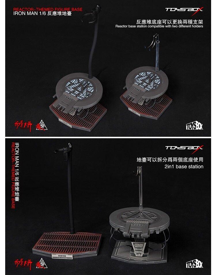 TOYS-Box 1 6 réacteur d'échelle le Med Figure base fit 12  Iron Man Figure modèle