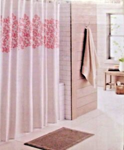 Image Is Loading New Shower Curtain Tan Coral Floral Size 72
