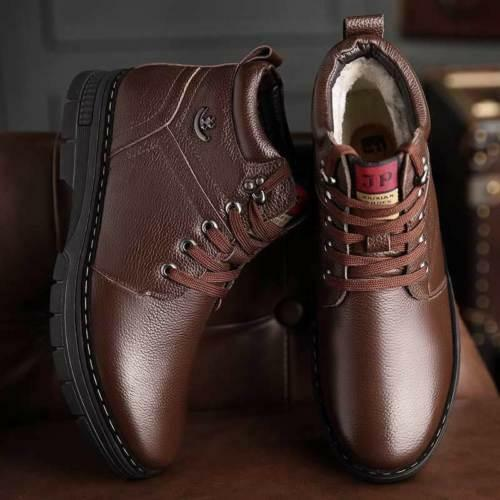 Mens Winter Warm Snow Ankle Boots Fur Lined Thicken dress formal Casual Shoes