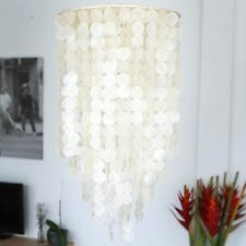 CAPIZ SHELL CHANDELIER Light Pendant Lighting Lamp Nacre Furniture Pendants