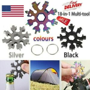 18 in 1 Portable Snowflake Stainless Multi Tool Tool Screwdriver With Key Chain