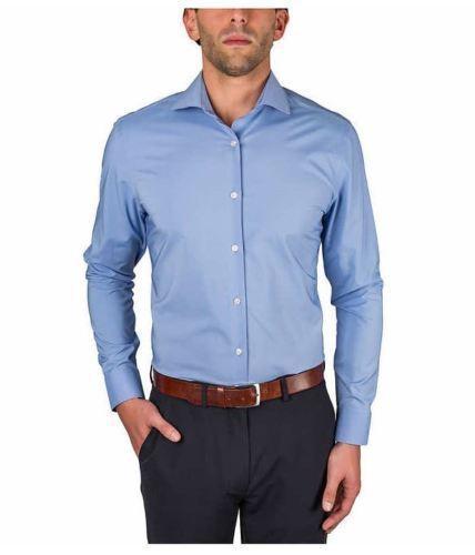 Perry Ellis Portfolio Travel Luxe Long Sleeve Button Down Dress Shirt