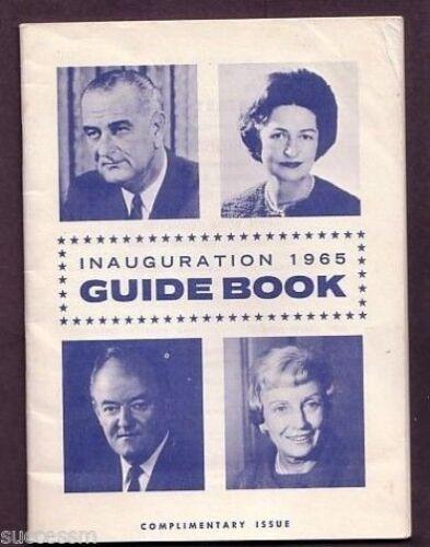 President Lyndon Johnson Original /& Official  Inaugural Guidebook