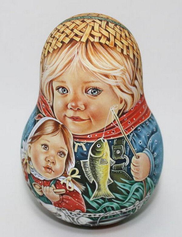 Russian Matryoshka vaso ni Muñeca Belleza Pesca Hecho a Mano Exclusivo
