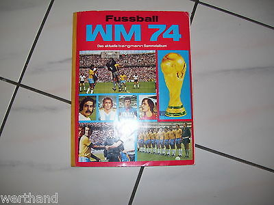 Bergmann WM 74 Sammelalbum Fussball, komplett guter Zustand