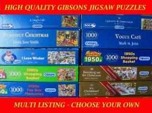 100% De Qualité Gibsons 500 Piece Jigsaw Puzzles-choisir Votre Propre: Multi Annonce