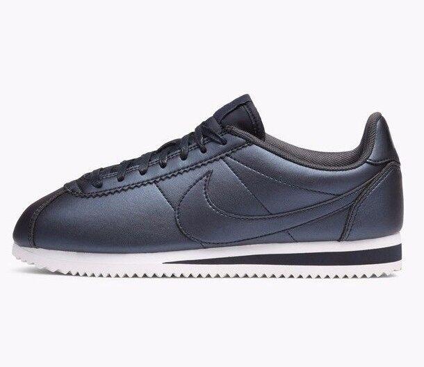 Nike Cortez Classic-Cuir Métallisé Hématite Gris - 807471-004 - UK 5, 6-