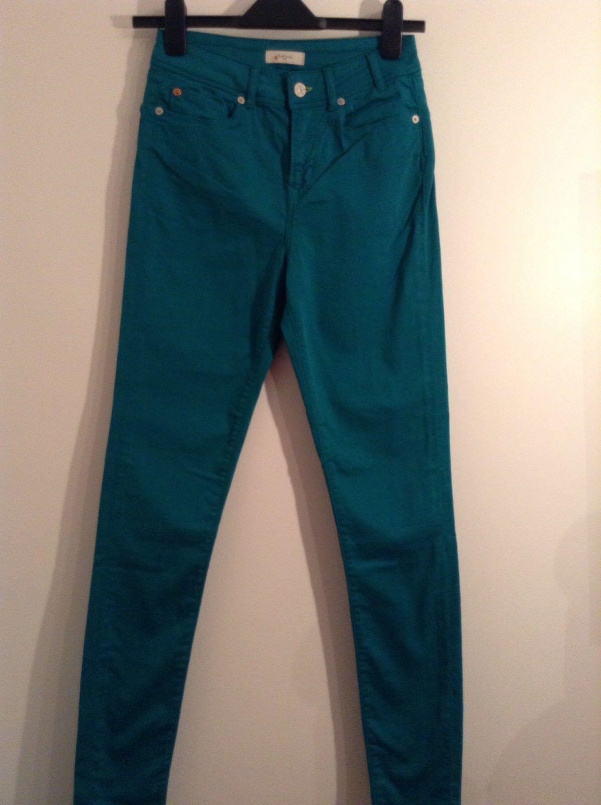 BNWT 100% Auth Paul Smith Slim Fit Skinny Grün Trousers. 26