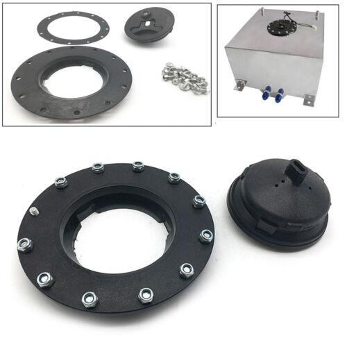 Universal Fuel Cell Gas Tank Filler Cap Cap+Filler Plate+Fittings For Car