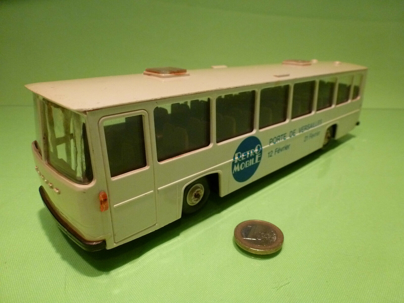 PLASTIC SAVIEM BUS RETRO MOBILE - PORTE DE VERSAILLES - 1 43 - GOOD CONDITION