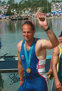 Steve Redgrave Genuine Hand Signed Autograph In Person 12x8 Photo Sydney 2000 Sports Memorabilia
