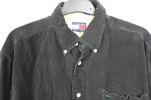 2819ce77 Image is loading Vintage-Early-90s-Mens-Tommy-Hilfiger-Black-Corduroy-