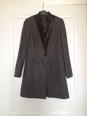 All Saints Lorie Lia Charcoal Spring Wool Coat Rrp £298 Size 4uk Famoso Per Materie Prime Di Alta Qualità, Gamma Completa Di Specifiche E Dimensioni E Grande Varietà Di Design E Colori