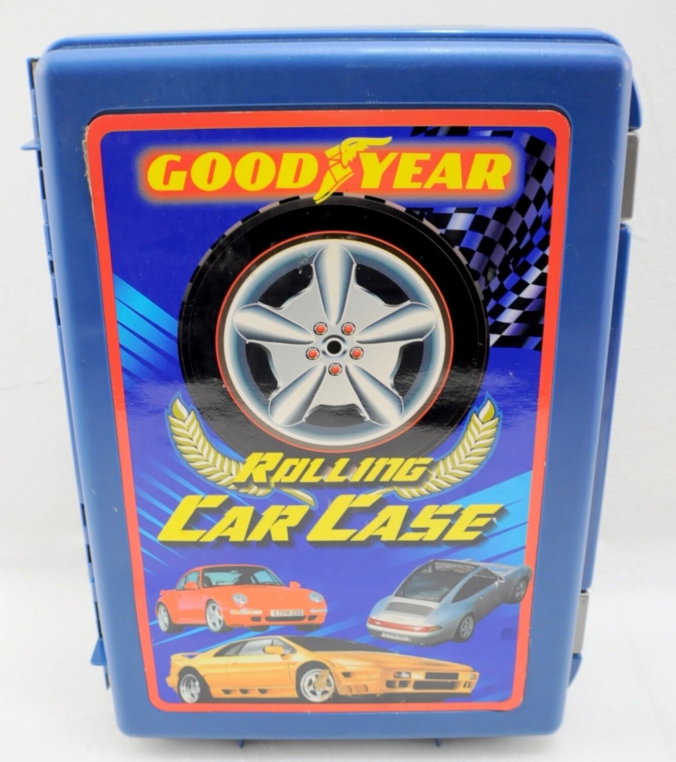 Vintage Good Year Rolling Car Case w/ Cars