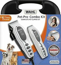 17 Pcs Pet Pro Combo Kit Grooming Electric Hair Shears Clipper Dog Trimmer Set
