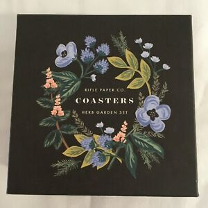 Rifle-Paper-Co-Herb-Garden-Coasters-Set-of-8-New-in-Box