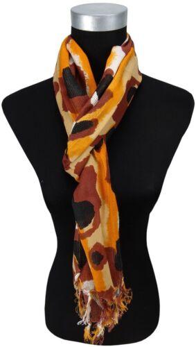 Schal orange braunrot beige weiss grau Tarn Fleckenmuster Tarnfarbe camouflage
