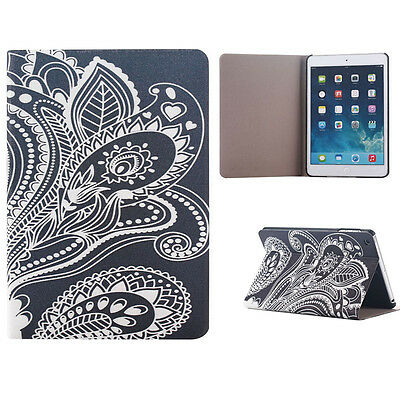White Carved Flip Stand Leather Case Cover For iPad Mini 1 2 3 Retina GFY