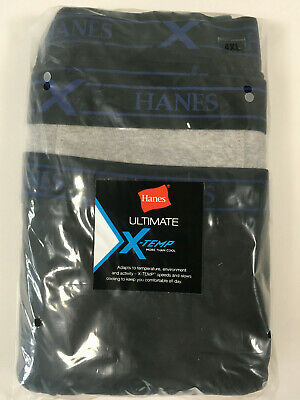 Hanes X-TEMP Big and Tall Men/'s Underwear Black Soft Cotton BRIEFS 3-Pack NIP
