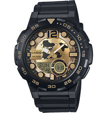 Casio Men's Databank 30 Watch, 100M, 3 Alarms, Chronograph, Resin, AEQ100BW-9AV